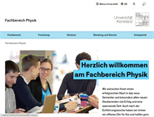 Tablet Preview of physik.uni-konstanz.de